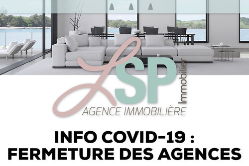 Info COVID-19 : fermeture des agences